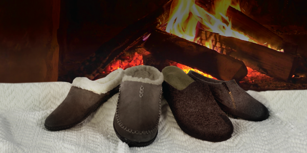 Home footwear can support your feet, while keeping you warm and cozy.