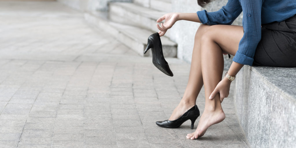 Heels can sometimes cause more damage than good.