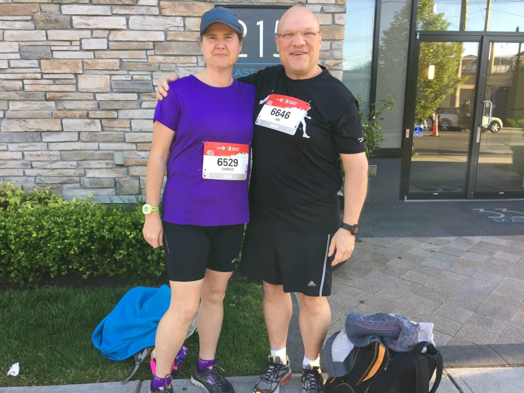 Christi with her running partner, Jim.